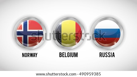 Flags buttons of europe icon. Nation and government theme. Colorful and isolated design. Vector illustration