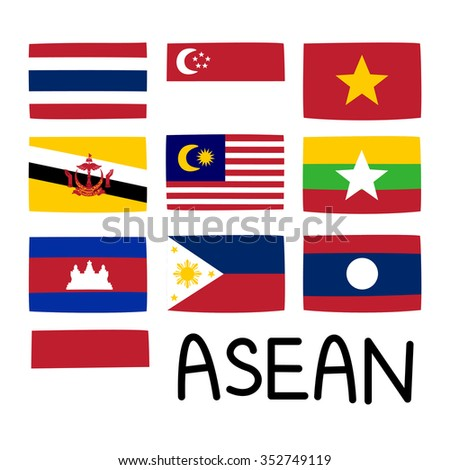 flags for asea countries