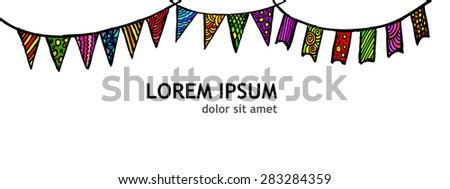 Flags holidays. Vector - stock vector