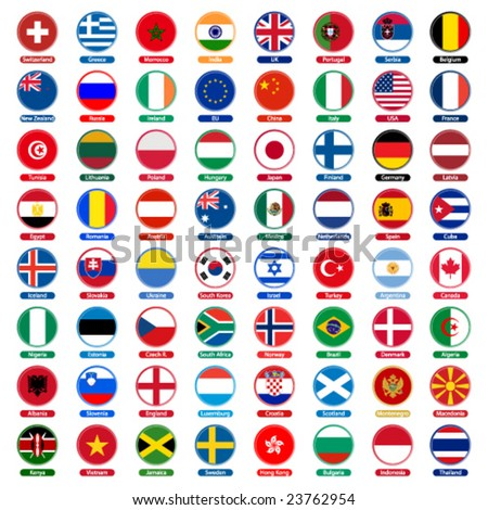 flags icons - stock vector
