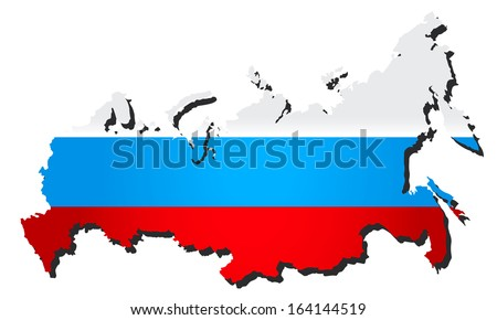 flags map Russia vector illustration - stock vector