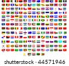 Flags of all countries in the world - stock photo