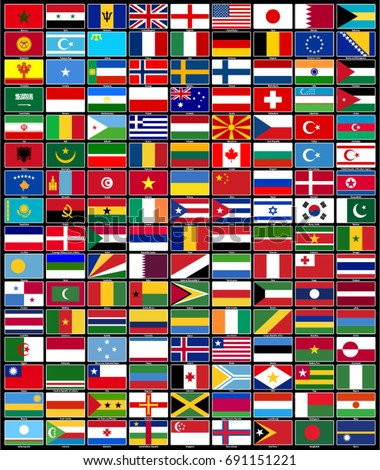 Flags of countries vector drawing