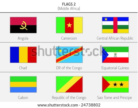 Flags of Middle Africa Countries 2