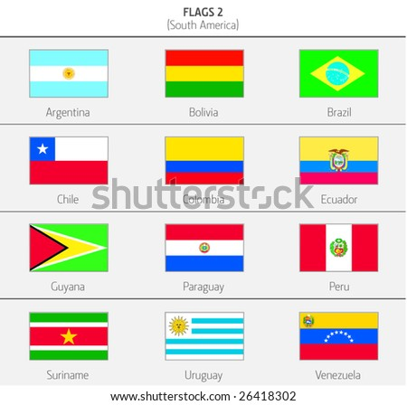 Flags of South America Countries 2