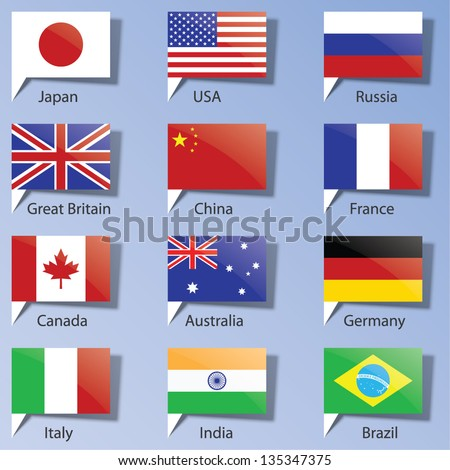 flags of the states. Eps10