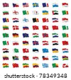 flags of the world - stock