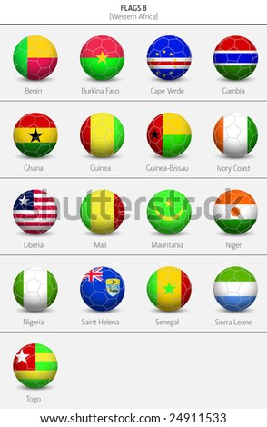 Flags of Western Africa Countries 7