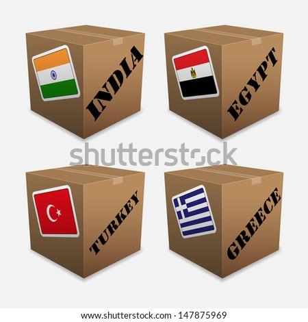 Flags on the box