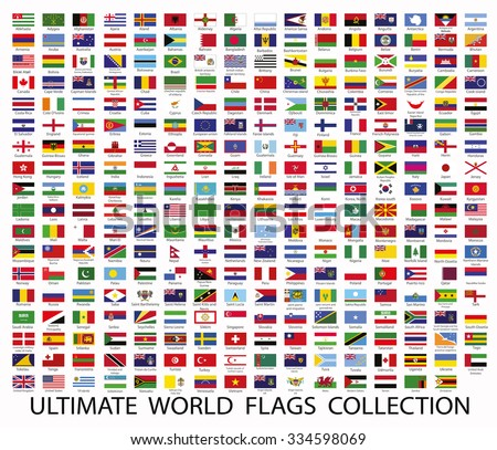 Flags the world vector - stock vector