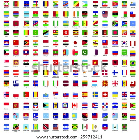 Flags vector of the world - stock vector