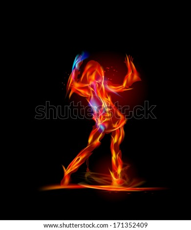 Flame collection Dancing fire girl