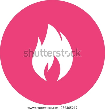 Flame, heat, temperature icon vector image. Can also be used for energy and technology. Suitable for web apps, mobile apps and print media. - stock vector
