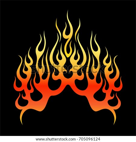 flame tattoo tribal vector design sketch stock vector 705096124 shutterstock. Black Bedroom Furniture Sets. Home Design Ideas
