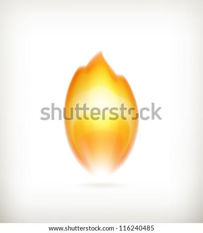 Flame, vector icon - stock vector