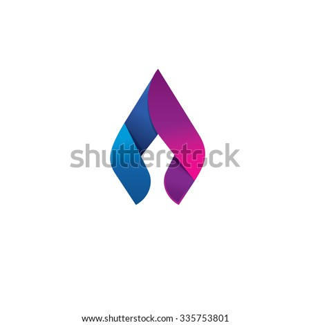 Flame vector logo design template concept. Spear and lance sharp element icon. Beauty and elegant identity ornament. Natural gas business company modern trendy fresh energy abstract symbol design.  - stock vector