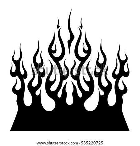 Car flames stock images royalty free images vectors for Tribal flames tattoo
