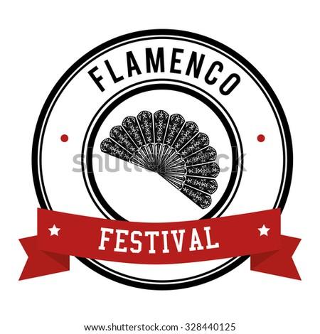 Flamenco culture icons design, vector illustration graphic - stock vector
