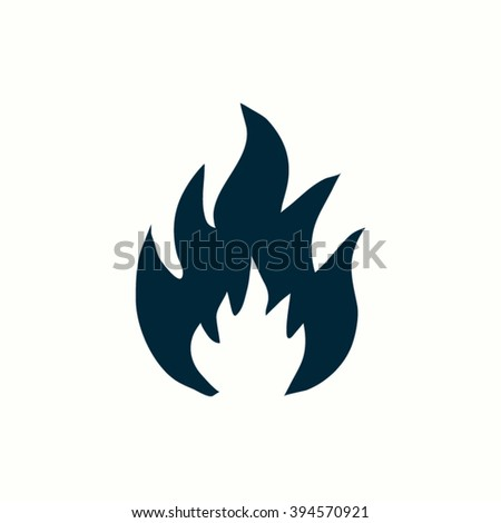 flames icons. - stock vector