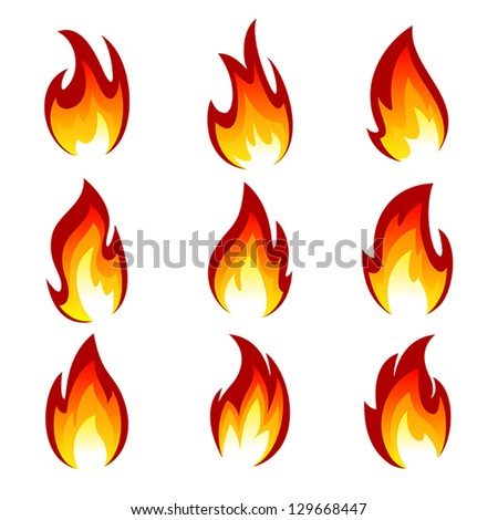 flames different shapes on white background stock photo photo rh shutterstock com vector frames and borders vector flames free
