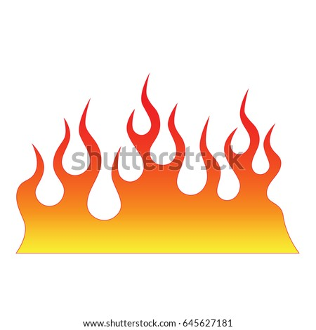 Flames Vector Icon Stock Vector 645627181 - Shutterstock