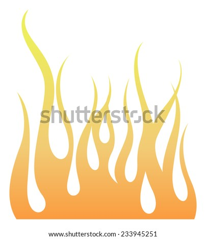 Flaming - stock vector