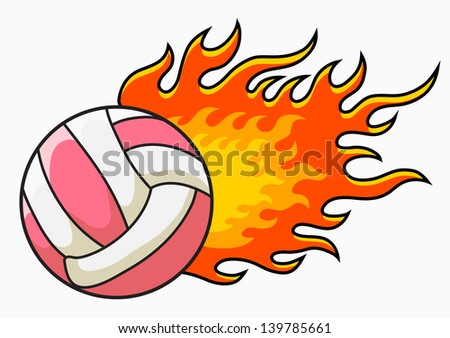 flaming volleyball vector illustration stock photo photo vector rh shutterstock com free flaming volleyball clipart