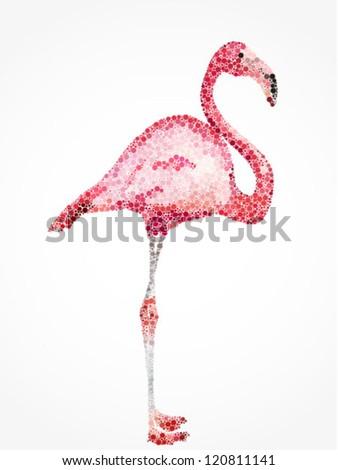 Flamingo Vector illustration - stock vector