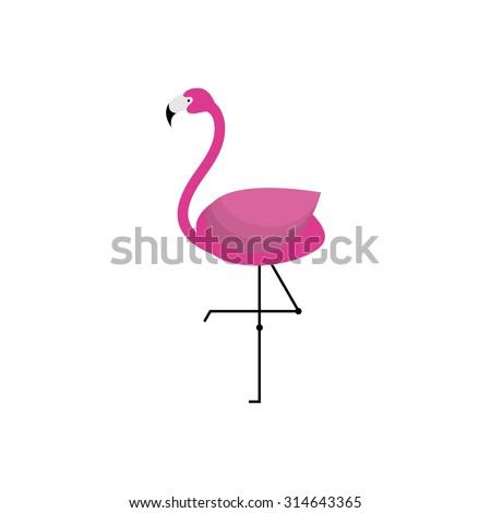 Two flamingo illustration on white background stock for Flamingo beak template