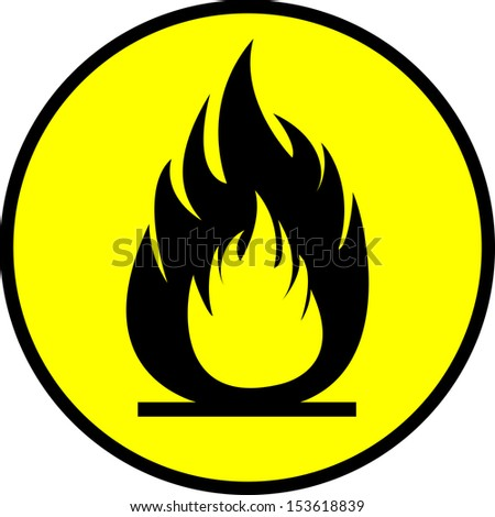 flammability sign n the circle - stock vector