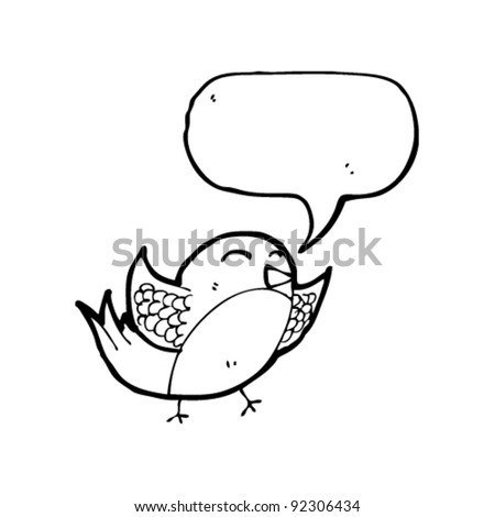 flapping bird with speech bubble