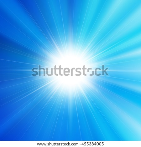 Flare bright shiny star with lined background
