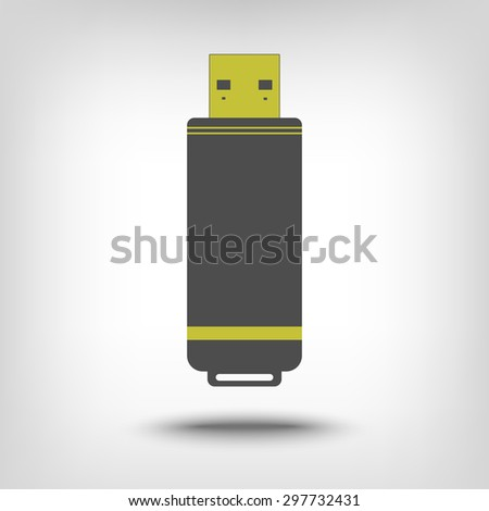 Flash drive icon as a concept