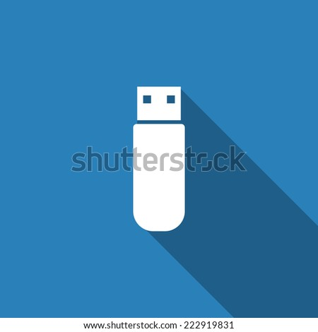 flash drive icon with long shadow
