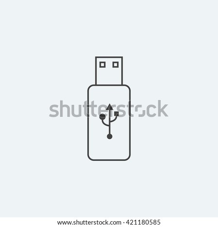 Flash Drive the line art, simple line art , simple icon, simple logo