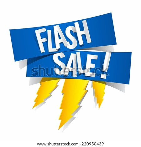 Flash Sale Design With Thunder vector illustration  - stock vector