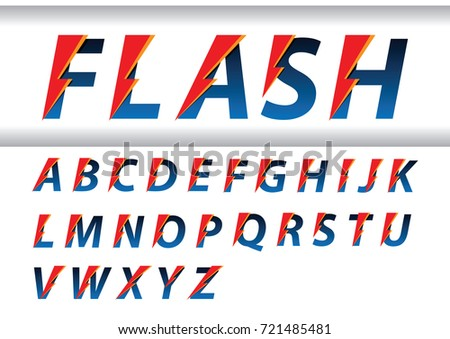 flash speed alphabet design letters sport elements for sportswear t shirt