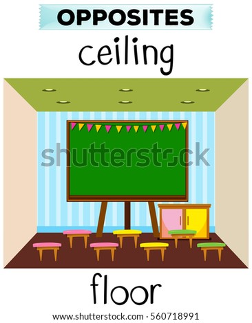 Opposites stock images royalty free images vectors for Opposite of floor
