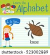 flashcard letter l is for louse ...