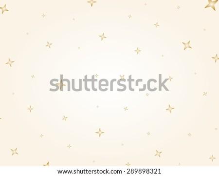 Flashing gold stars on light golden background - stock vector