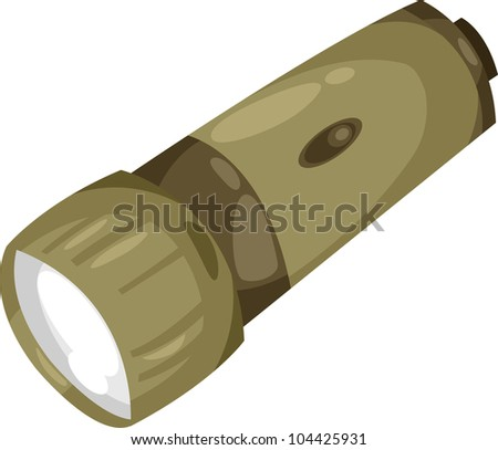 Flashlight soldier - stock vector