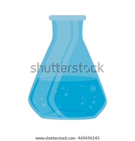 flask chemical chemistry bottle laboratory scientific object vector illustration isolated