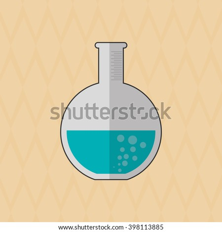 flask icon design , vector illustration
