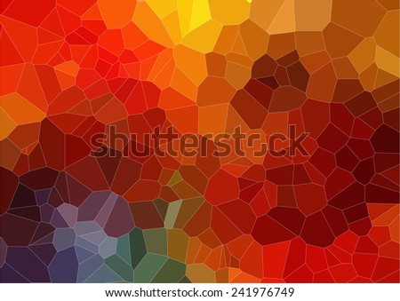 Flat abstract 2D mosaic colorful background - stock vector