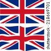 Flat and waving British Flag. Vector illustration - stock vector