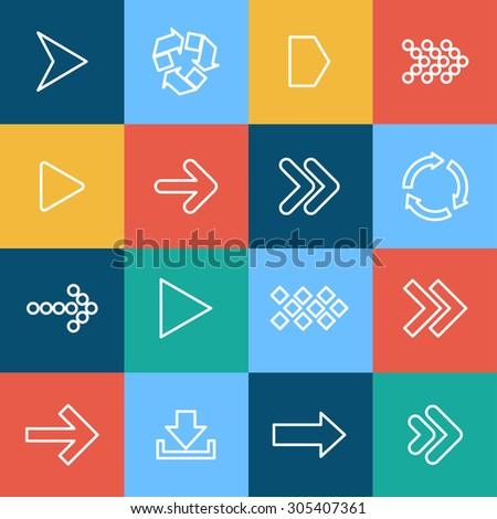Flat arrow icon - stock vector