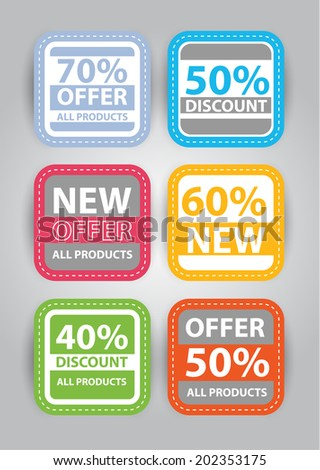flat badges and stickers - stock vector