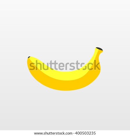 Flat banana vector icon.