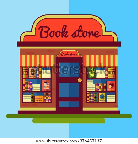 flat bookstore book shop illustration stock vector empty bookshelf clipart bookshelf border clipart