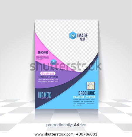 Flat Business A4 Flyer and Brochure. Catalog Cover, Corporate Leaflet Template and Background Design